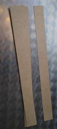 Cardboard strips for making various parts for mechanical musical instruments